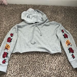 LA Hearts cropped hoodie with patches